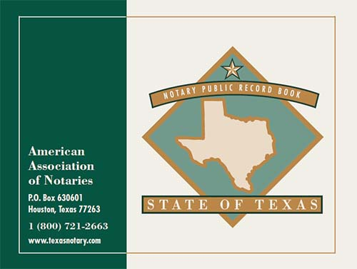 Texas Notary Public Record Book (576 entries)