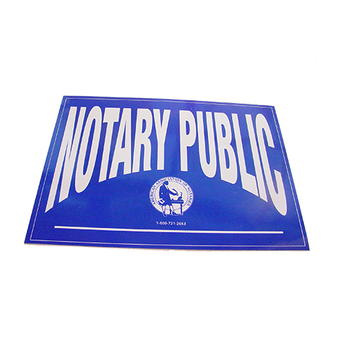 Texas Notary Public Decal