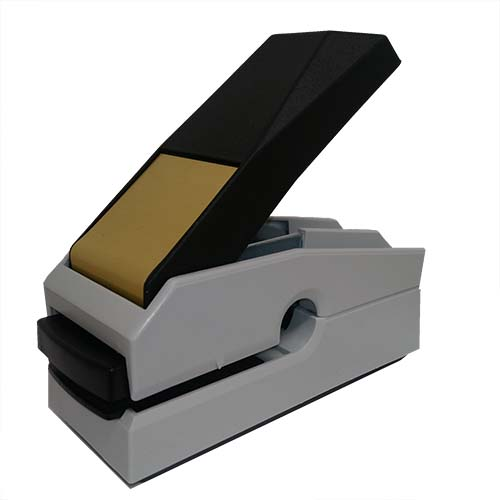 This award-winning, Canadian-made seal embosser is designed to create a lasting raised notary impression on any kind of paper with ease and comes with a life-time replacement guarantee. This Texas notary seal embosser is designed to allow embossing anywhere on a document where a standard embosser cannot reach. Creates notary seal impressions of 1-5/8 inches.