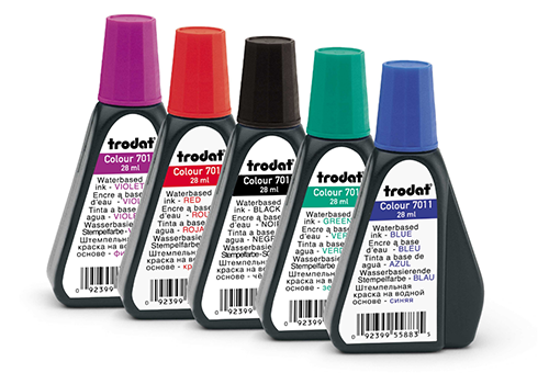 Keep a bottle of ink handy in case your self-inking Texas notary stamp needs a refill. Click on the 'Add to Cart' button to choose the right ink color.