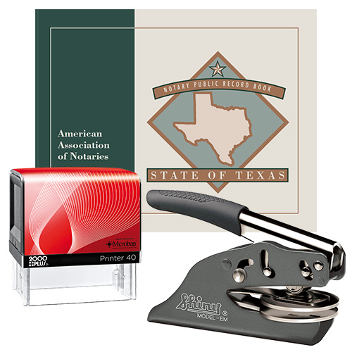 Texas Notary Supplies Deluxe Package I