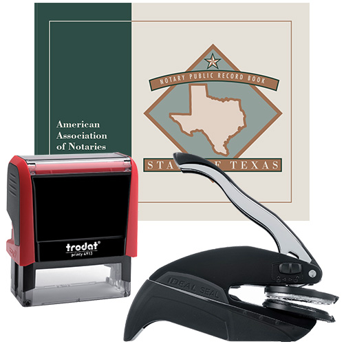 Texas Notary Supplies Deluxe Package II