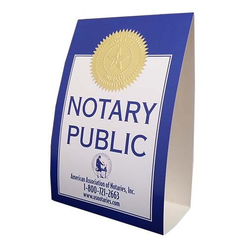 Texas Notary Display Sign